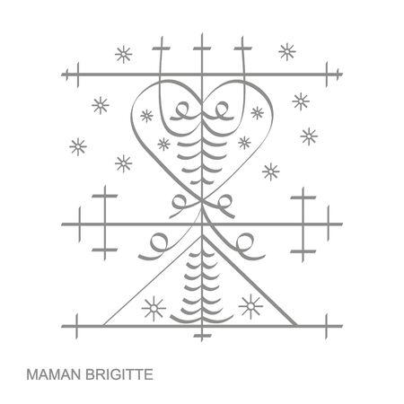 veve vodoo symbol Maman Brigitte