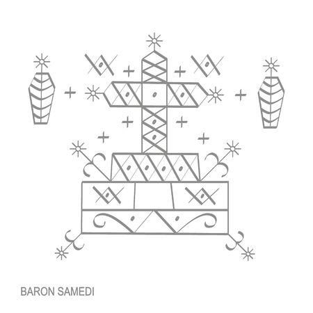 veve vodoo symbol Baron Samedi