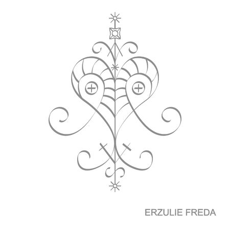 veve vodoo symbol Ersulie Freda
