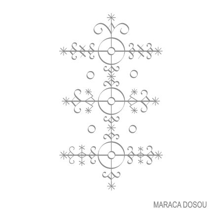 veve vodoo symbol Maraca Dosou