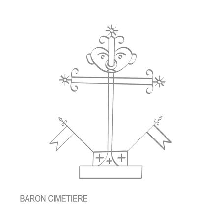 veve vodoo symbol Baron Cimetiere  イラスト・ベクター素材