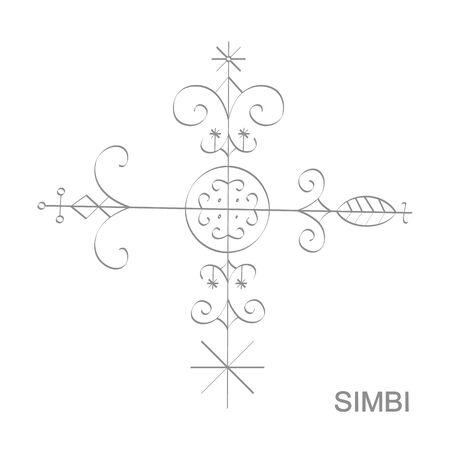 icon with veve vodoo symbol Simbi  イラスト・ベクター素材