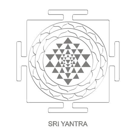 icon with Sri Yantra Hinduism symbol