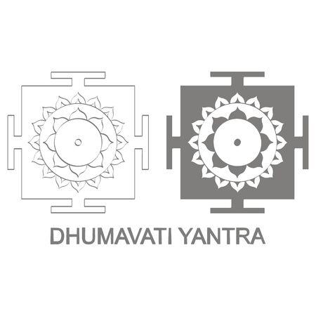 Dhumavati Yantra Hinduism symbol