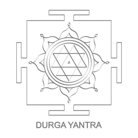 Durga Yantra Hinduism symbol 向量圖像
