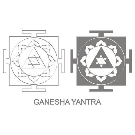 Ganesha Yantra Hinduism symbol 版權商用圖片 - 127639577
