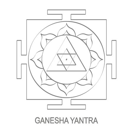 Ganesha Yantra Hinduism symbol 矢量图像