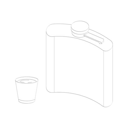 vector icon with pocket bottle 向量圖像