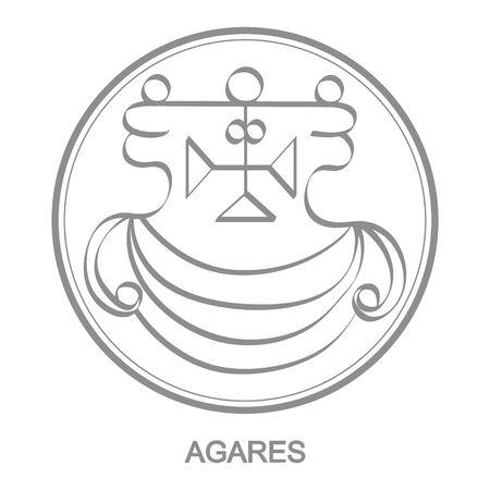 Sigil of demon agares