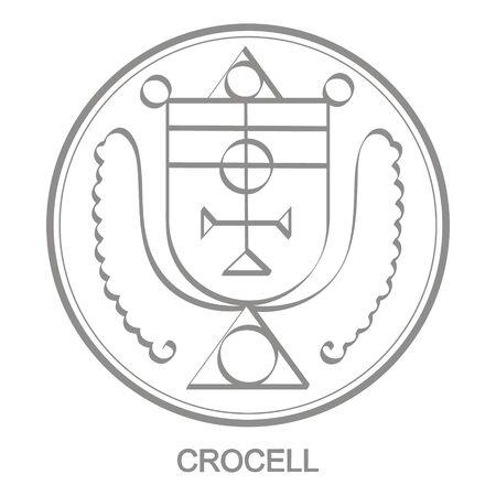 Sigil of demon crocell Illustration