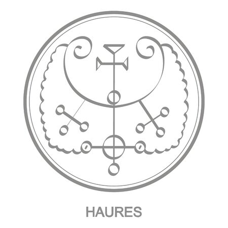 Sigil of demon haures Vettoriali