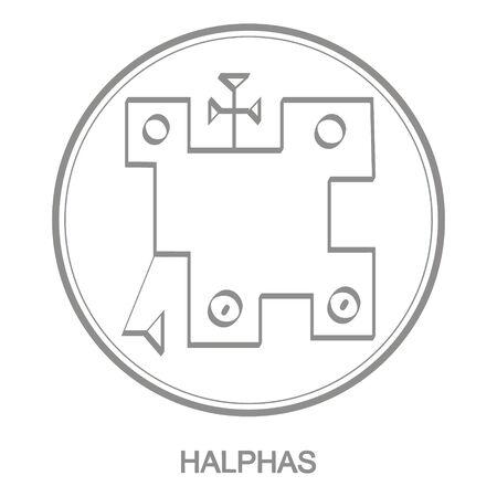 icon with symbol of demon Halphas