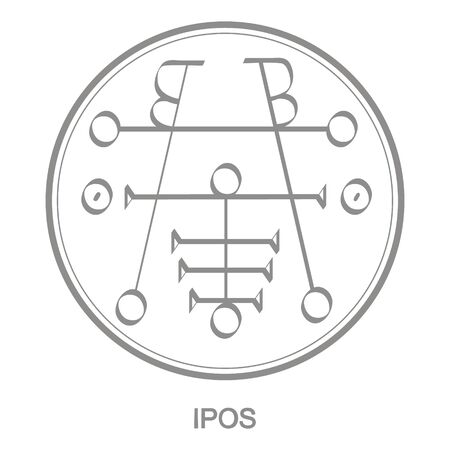 icon with symbol of demon Ipos