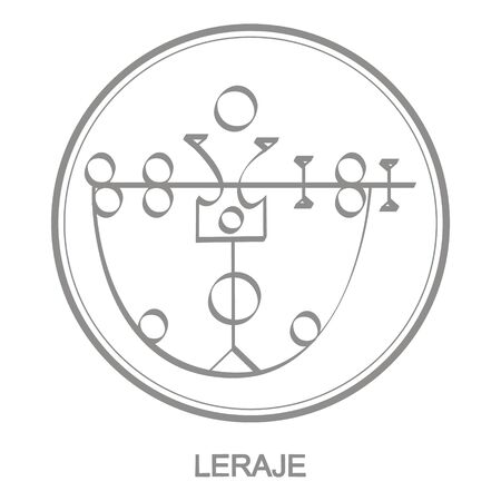 icon with symbol of demon Laraje