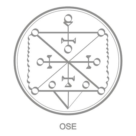 Sigil of demon ose Vettoriali