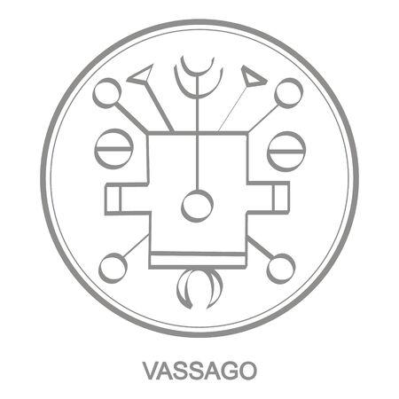 Sigil of demon vassago Illustration