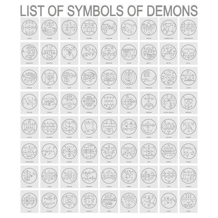 Symbols of Demons