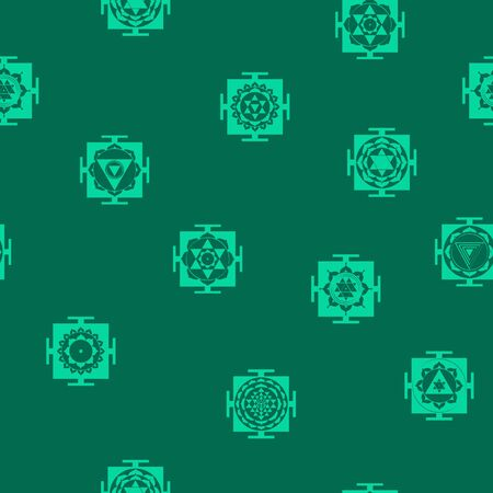 Seamless pattern with Yantra Hinduism symbols Stock Vector - 130893006