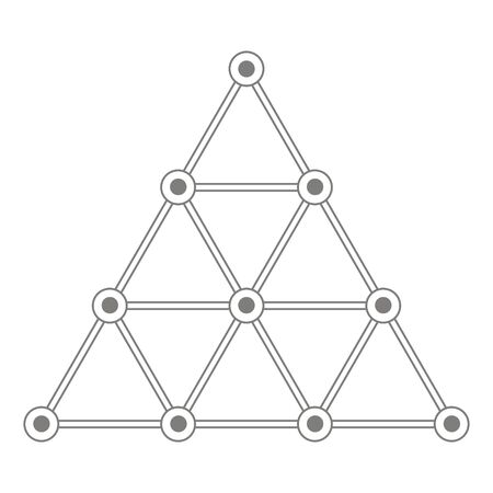 Vector icon with sacred Pythagorean symbol Tetractys
