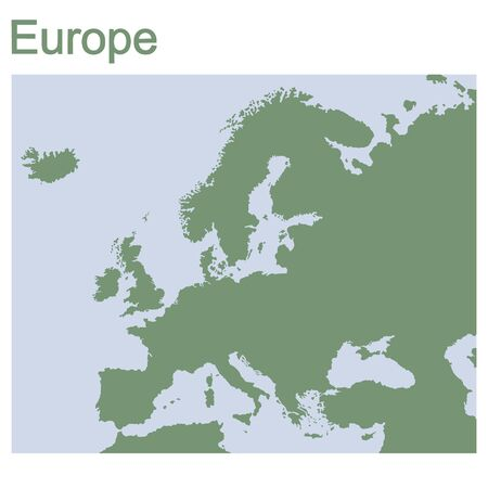 vector illustration with map of continent Europe