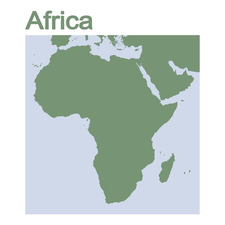 vector illustration with map of continent Africa