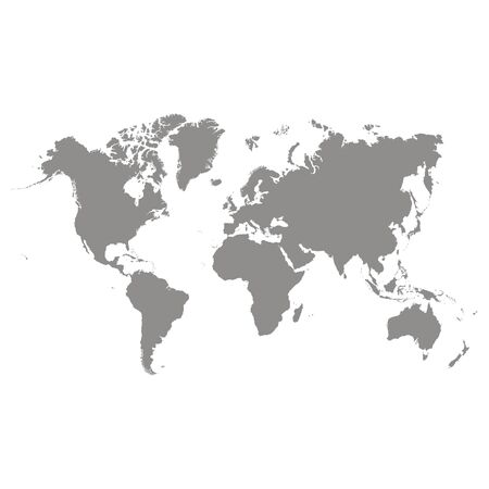vector illustration with world map