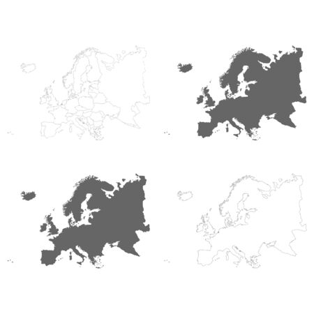 vector illustration with Political Maps of Europe Ilustrace