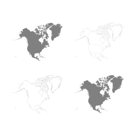 vector Political Maps of North America