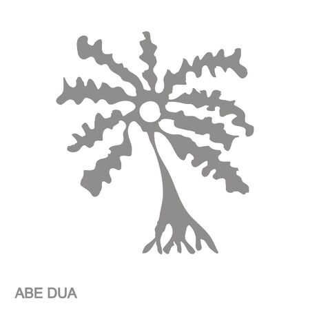 Simbolo Adinkra abe dua Vettoriali