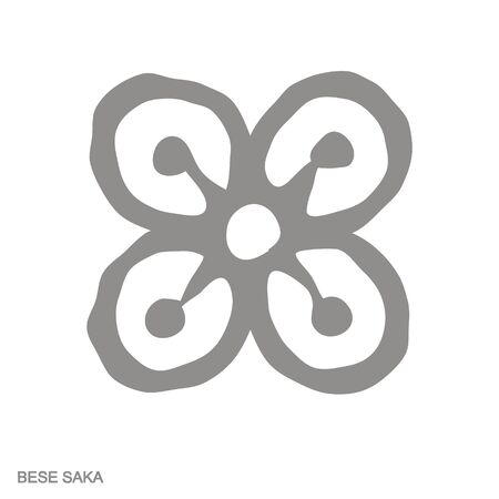 icon with Adinkra symbol Bese Saka Vectores