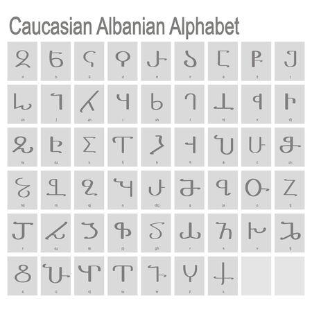 icons with Caucasian Albanian Alphabet
