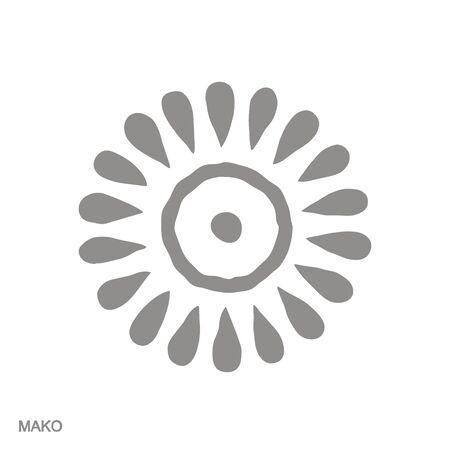 icon with Adinkra symbol Mako Ilustração