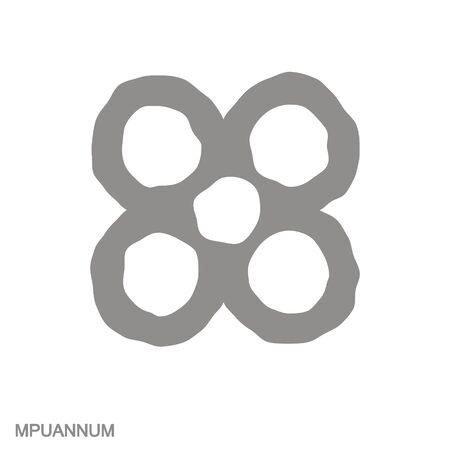 icon with Adinkra symbol Mpuannum