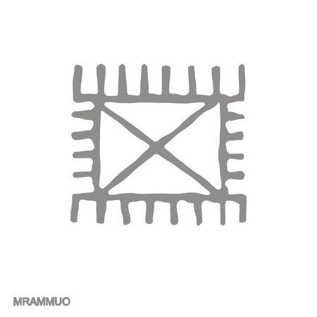icon with Adinkra symbol Mrammuo