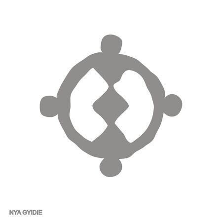 icon with Adinkra symbol Nya Gyidie