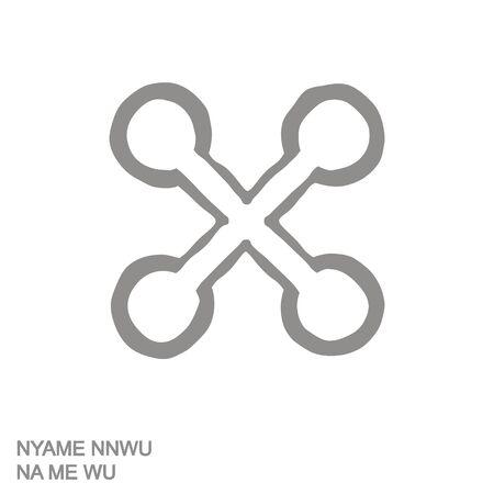 icon with Adinkra symbol Nyame Nnwu Na Me Wu