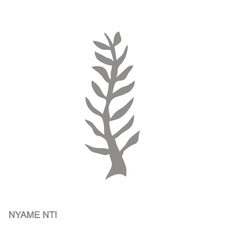 icon with Adinkra symbol Nyame Nti