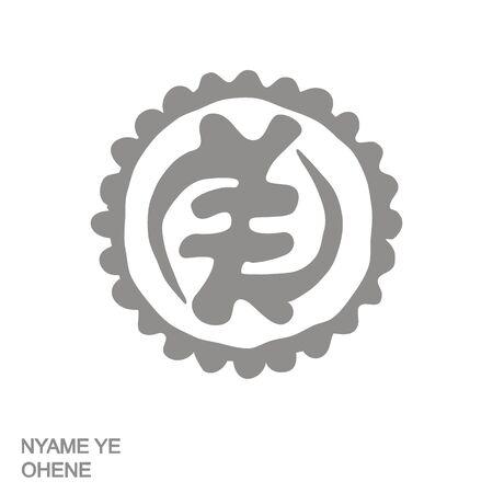 icon with Adinkra symbol Nyame Ye Ohene