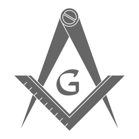 Masonic square and compasses  イラスト・ベクター素材