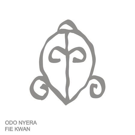 icon with Adinkra symbol Odo Nyera Fie Kwan