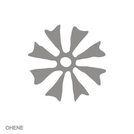icon with Adinkra symbol Ohene