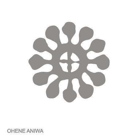 icon with Adinkra symbol Ohene Aniwa