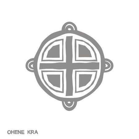 icon with Adinkra symbol Ohene Kra