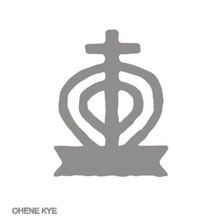 icon with Adinkra symbol Ohene Kye