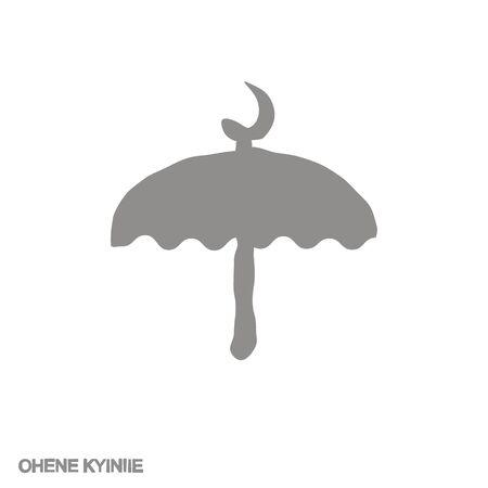 icon with Adinkra symbol Ohene Kyiniie 向量圖像