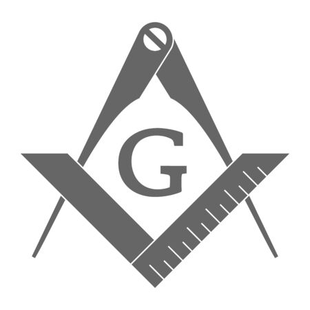 icon with Masonic Square and Compasses