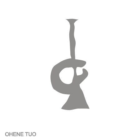 icon with Adinkra symbol Ohene Tuo