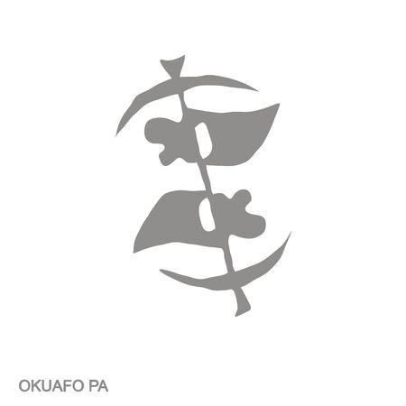 icon with Adinkra symbol Okuafo Pa 向量圖像