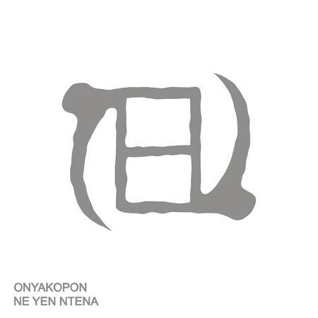 Adinkra symbol Onyakopon Ne Yen Ntena 向量圖像