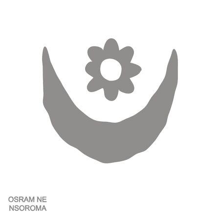 icon with Adinkra symbol Osram Ne Nsoroma